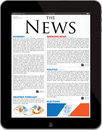 News site template on the new iPad 4 Royalty Free Stock Photos