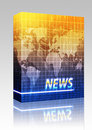 News splash screen box package Royalty Free Stock Photo