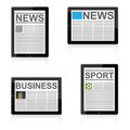 News on tablet Royalty Free Stock Photo