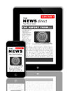 News on tablet and phone Royalty Free Stock Photo