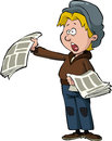 Newsboy Stock Photography