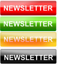 Newsletter button Royalty Free Stock Photo