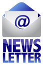 Newsletter concept image of text and email Royalty Free Stock Photo