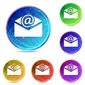 Newsletter email icon digital abstract round buttons set illustration