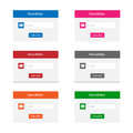 Newsletter forms collection of in various colors Stock Image