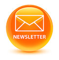 Newsletter glassy orange round button Royalty Free Stock Photo