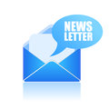 Newsletter icon on white background Royalty Free Stock Photos