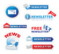 Newsletter icons Stock Photo