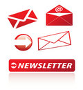 Newsletter icons Royalty Free Stock Image