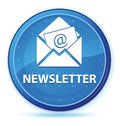 Newsletter midnight blue prime round button Royalty Free Stock Photo