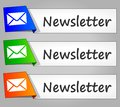 Newsletter paper design web buttons Royalty Free Stock Photo