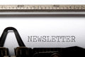 Newsletter printed on a typewriter Royalty Free Stock Image