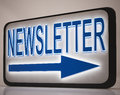 Newsletter Sign Showing News Mails Royalty Free Stock Photos