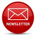 Newsletter special red round button Royalty Free Stock Photo
