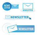 Newsletter symbols Stock Photography