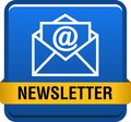 Newsletter web button Royalty Free Stock Photo