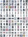 Noviny abeceda dolné