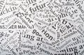 Newspaper clippings background made of Stock Photography