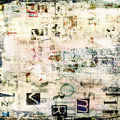 Newspaper collage grunge background magazine Stock Images