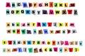 Newspaper cutout alphabet