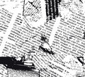 Newspaper grunge b&w
