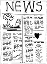 Newspaper hand drawn with stories about everything use it as a concept for newspapers or insert your copy anywhere Royalty Free Stock Images