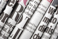 Newspaper headlines Royalty Free Stock Photo