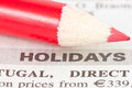 Newspaper  with holidays ad Royalty Free Stock Photos