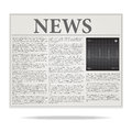 Newspaper Illustration Royalty Free Stock Photos