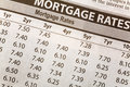 Newspaper Mortgage Rate Stock Image