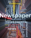 Newspaper news background concept glowing Stock Image