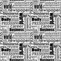Newspaper seamless Royalty Free Stock Photo