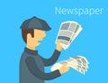 Newspaper selling