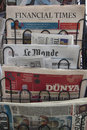 Newspaper stand Royalty Free Stock Photo