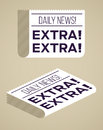 Newspapers flat newspaper designs with textured background Stock Photography