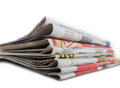 Newspapers isolated on white background Royalty Free Stock Photography
