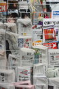 Newspapers and Magazines Stock Photography