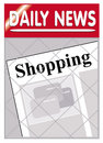 Newspapers shopping Royalty Free Stock Images