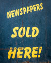 Newspapers Sold Here Royalty Free Stock Photo