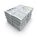 Newspapers stack Royalty Free Stock Images