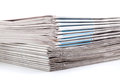 Newspapers stack of on white background Royalty Free Stock Images
