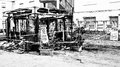 Newsstand burned in the center of Chieti by vandals Royalty Free Stock Photo