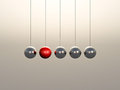 Newton Cradle spheres Royalty Free Stock Photography