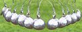 Newton's Cradle or pendulum ball, Newton pendulum also called Ne Royalty Free Stock Photo