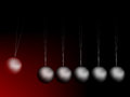 Newtons cradle vector Stock Photo