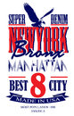 Newyork poster graphic vector design man tshirt Royalty Free Stock Image