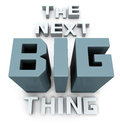 The next big thing coming soon announcement d illustration Stock Images
