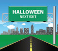 Next exit - Halloween Royalty Free Stock Photo