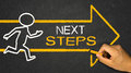 next steps concept Royalty Free Stock Photo