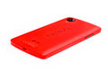 Nexus new red smart phone isolated on a white background Stock Photo